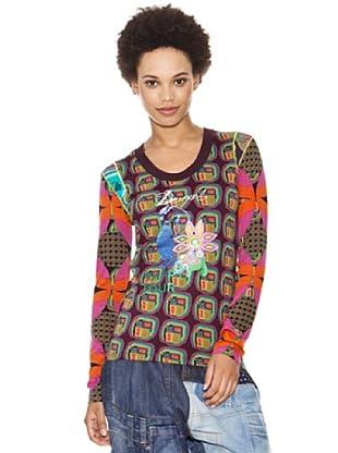 Desigual Camiseta Andrea (berenjena)