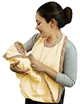 Frenchie Mini Couture Extra Large Hands Free Absorbent Hooded Towel Yellow