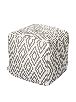 Glam Home Pouf Ela weiß/taupe