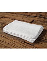 Valtellina Plain White Full Size Bath Towel