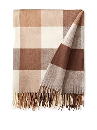 BRUN DE VIAN-TRIAN Merino Plaid Throw, Terres