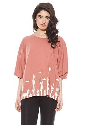 La Casita de Wendy Camiseta Cactus (rosa claro)