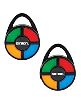 (Set of 2) Simon Electronic Carabiner Hand Held Classic Light Sound Pattern Memory Games