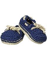 Jefferies Socks Baby Boys' Crochet Bootie, Navy, Newborn