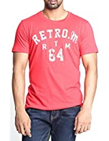 Masculino Latino Casual Red T-shirts Round Neck for Men MLT1002A-S