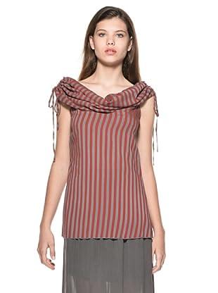 Eccentrica Camiseta Kayleigh (Rojo/Gris Oscuro)