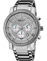 Akribos XXIV Men's AKR439SS2 Grandiose Dazzling Diamond Chronograph Stainelss Steel Bracelet Watch