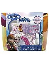 Disney Frozen Love Blooms Twin Sheet Set