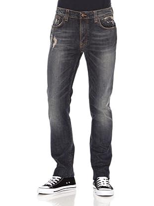 Nudie Jeans Pantalón Thin Finn (Azul grisaceo)