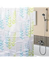 170x180cm Polyester Double Color Grass Waterproof Bathroom Shower Curtain