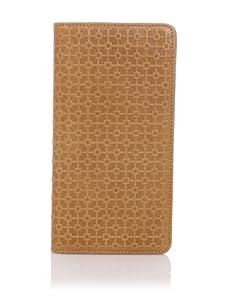 Hlaska Artifacts Women's Embossed Slim Check Wallet (Camel)