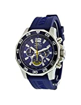 Invicta Signature Ii Chronograph Nautical Blue Dial Blue Rubber Men'S Watch - In7431