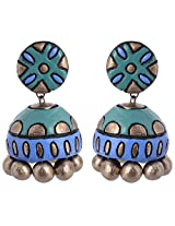 Scorched Earth Terracotta Jhumki Earrings for Women