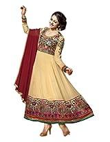 Livaaz Party Wear viscose anarkali Salwar suit dupatta/dress material