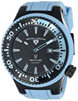 Swiss Legend Watches, Men's Neptune Automatic Black Dial Baby Blue Silicone, Model 11818A-BB-01-BBLS