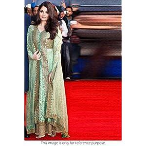 Bollywood Replica Aishwarya Rai Net Lehenga In Green Colour NC280