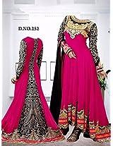 Shree Fashion Woman's Georgette With Dupatta [Shree (89) Pink_Pink]
