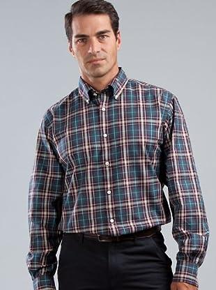 Cortefiel Camisa Cuadros (Azul)