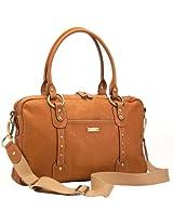 Storksak Elizabeth Leather Diaper Bag, Tan