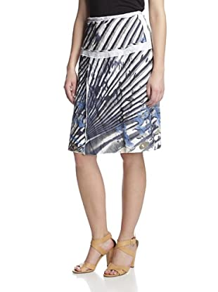 Gregory Parkinson Women's Split Front Skirt (Navy White)