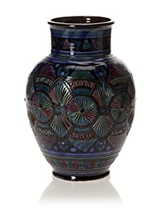 Hand-Painted Vase (Multi/Blue)