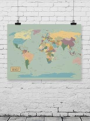 NOORMAL Poster Mapa Mundi