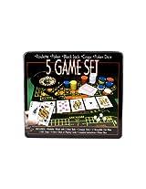 5-in-1 Casino Game in Tin Box