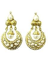 Bling - Gold & Pearl Wedding Style Earings
