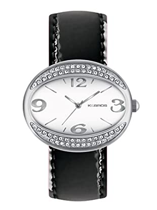 K&BROS 9156-1 / Reloj de Señora  con correa de piel negro