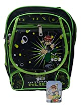 UXpress ben10 12 litres polyester black and green school bag