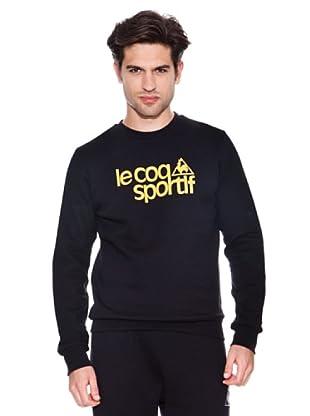 Le Coq Sportif Sudadera Ligne (Negro / Amarillo)