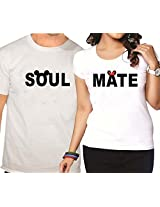 Giftsmate Soulmate Mickey Minnie Couple T shirt - Set of 2.Valentine gifts for boyfriend, gifts for girlfriend, gifts for husband, gifts for wife.