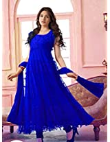 Queen Designer Royal Blue Hot Long Anarkali Suit