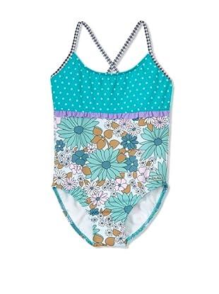 Azul Swimwear Girl's Anything Goes Swimsuit (Multi)