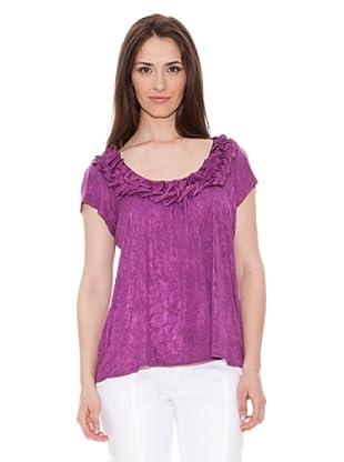 Diktons Camiseta Frunces Escote (Morado)