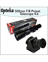 Opteka 500mm f/8 High Definition Preset Telephoto Lens + Lens Converter To Telescope Kit