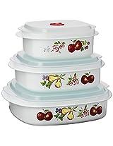 Reston Lloyd Corelle Coordinates Microwave Cookware Set, Chutney