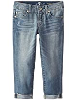 7 For All Mankind Big Girls' Skinny Crop and Roll Jean, Absolute Heritage, 10