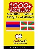 1000+ Armenian - Basque, Basque - Armenian Vocabulary