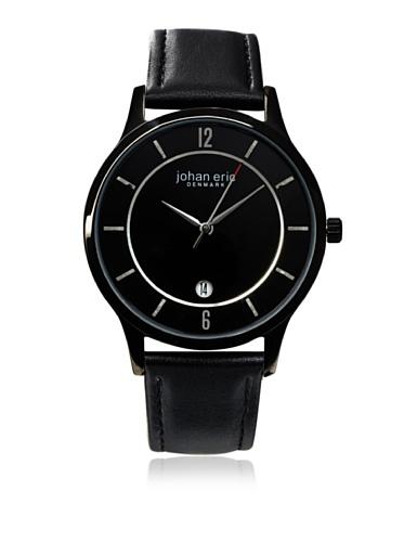 Johan Eric Men's JE2003-13-007 Hobro Black Dial Leather Watch
