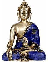 The Medicine Buddha - Brass with Inlay