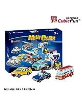 "CubicFun 3D Puzzle S-Series ""Mini Cars"""