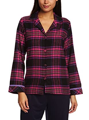 Cyberjammies Camisa De Pijama Liquorice Luxe Checks (Fucsia / Negro)