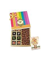 Attractive Treat Of Chocolates With Birthday Card - Chocholik Belgium Chocolates