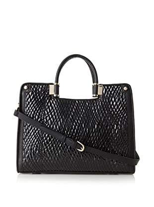 Ivanka Trump Women's Rose Quilted Glaze Top Handle Bag (Black)