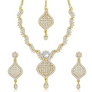 Sukkhi Fashion MSUKK61424250030 gold plated necklace set