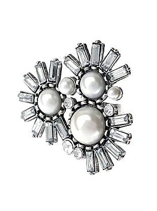 Frou Frou Bijoux Anello silver/bianco
