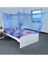 Mosquito Net for Extra Big Double Bed 8 x 6 Feet - (Blue)