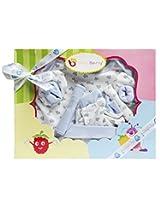 Wonderkids 6 Piece Baby Gift Set Blue