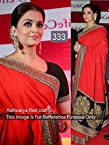 Aishwarya rai Red Craft Awesome Designer Saree